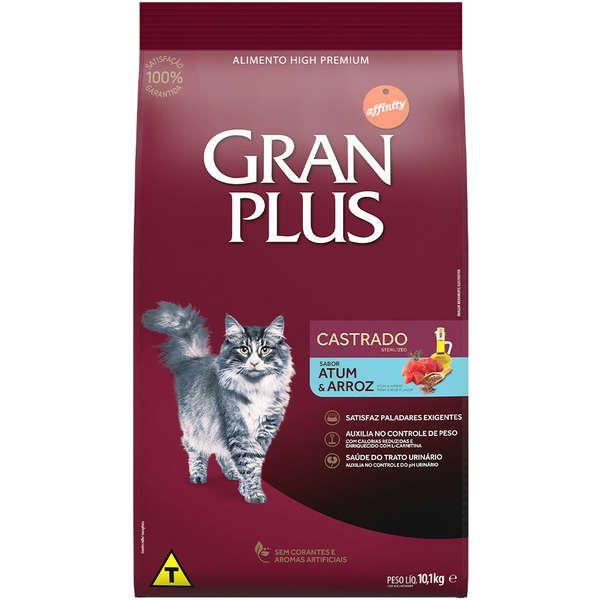 Gran Plus Gatos Adultos Castrados Atum e Arroz (Econômica)