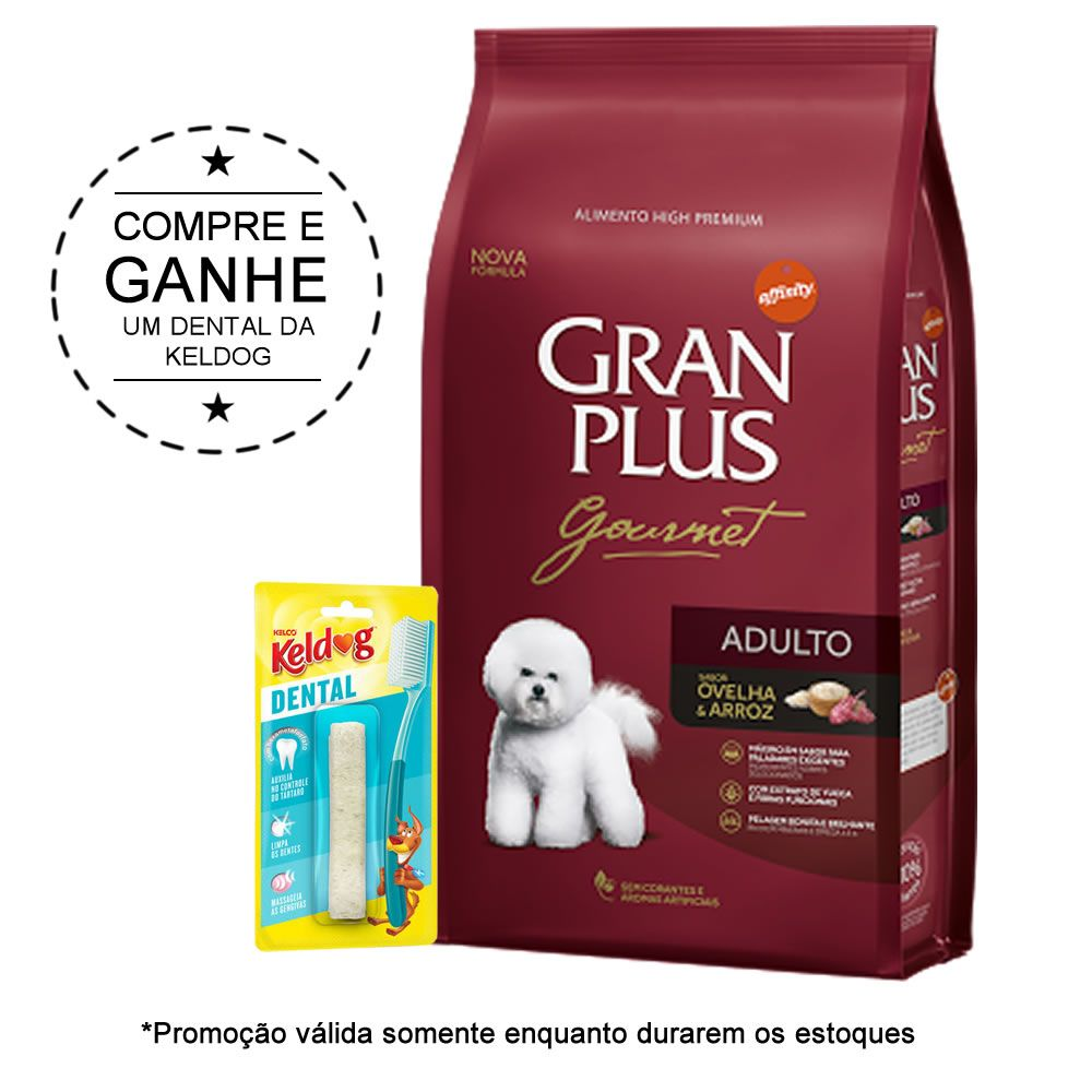 Gran Plus Gourmet Adulto Ovelha e Arroz