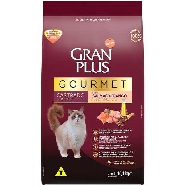 Gran Plus Gourmet Gatos Adultos Castrados Salmão