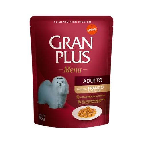 Gran Plus Sachê Menu Adulto Frango 85g