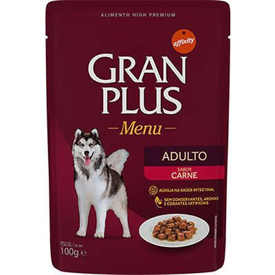 Gran Plus Sachê Menu Adulto Carne 85g