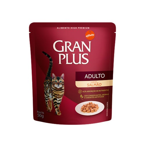 Gran Plus Sachê Gatos Adulto Salmão 85g