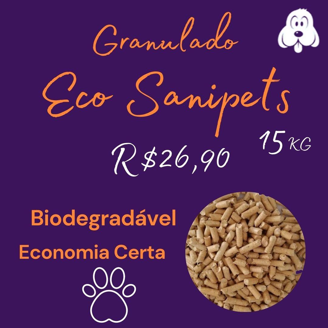 Granulado Higiênico de Madeira Sanipets Biodegradavél -15kg