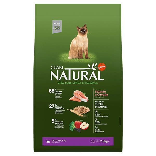 Guabi Natural Gato Adulto Salmão e Cevada