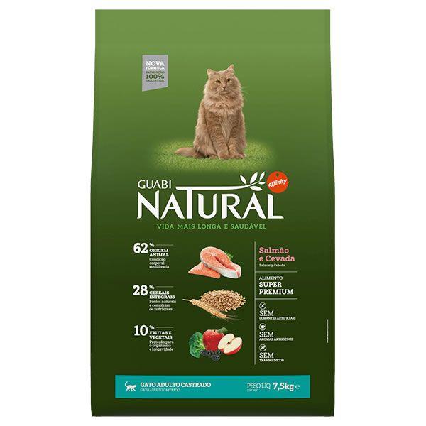 Guabi Natural Gato Castrado Adulto Salmão e Cevada