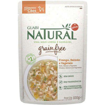 Guabi Natural Grain Free sachê Frango, Salmão e Vegetais Cães Adultos 100g