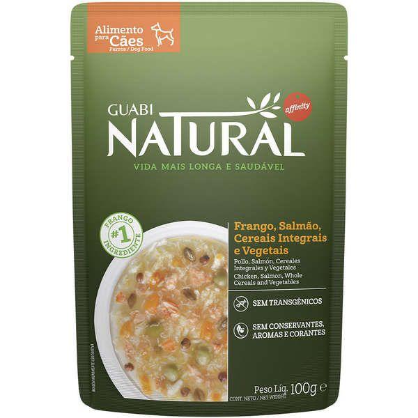 Guabi Natural sachê Cão Adulto Frango, Salmão, Cereais e Vegetais 100g