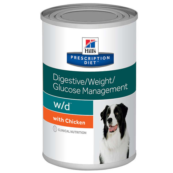 Hills Prescription Diet Lata W/D Controle Glicêmico e Digestivo