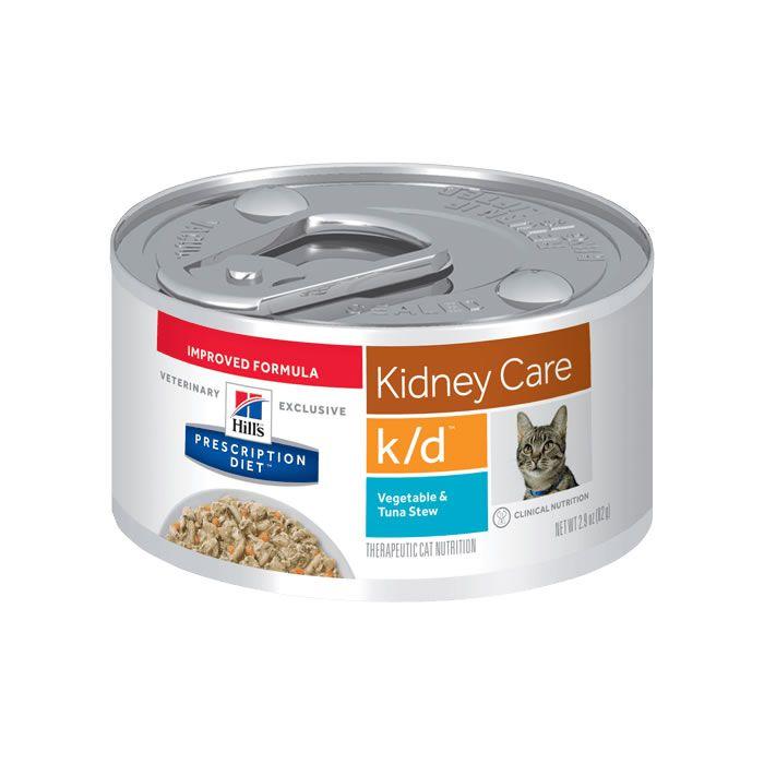 Hills Prescription Diet Lata K/D Feline Cuidado Renal Atum e Vegetais