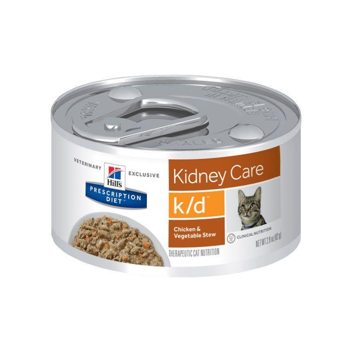 Hills Prescription Diet Lata K/D Feline Cuidado Renal Frango e Vegetais
