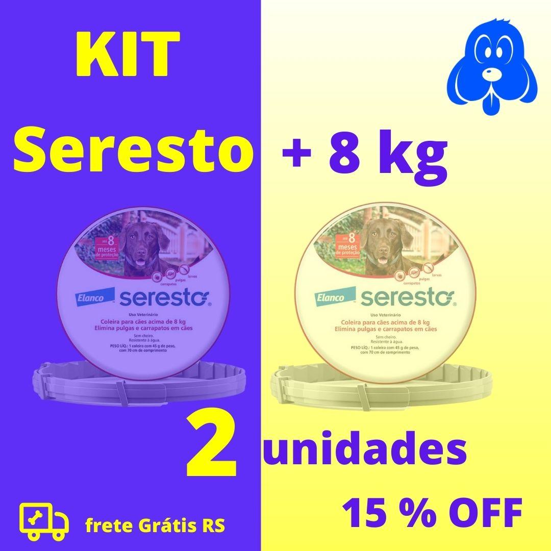 Kit Coleira Seresto 70cm (Acima 8kg) 2 Unidades