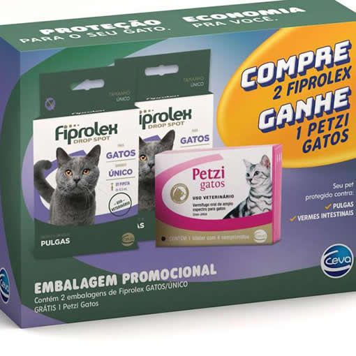 Kit Fiprolex Gatos + Petzi Gatos