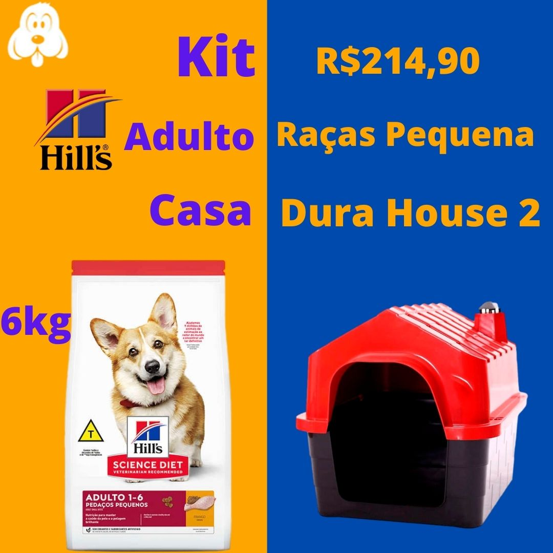 Kit Hills Adulto Pedaços Pequenos 6kg Casa DuraHouse n 2