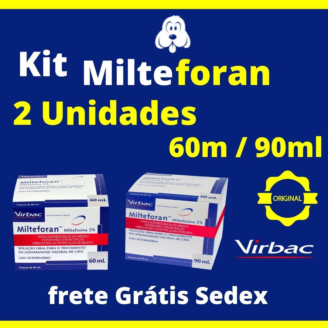 Kit Milteforan 2 Unidades 60 ml/90ml ( Frete Grátis ) Sedex 2 Dias Úteis