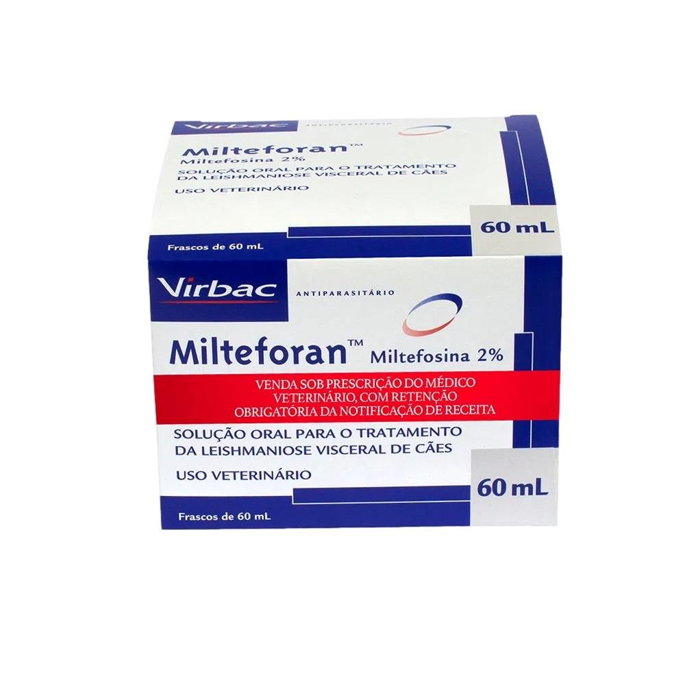 Kit Milteforan 2 Unidades  60 ml  ( Frete Grátis ) Sedex 2 Dias Úteis