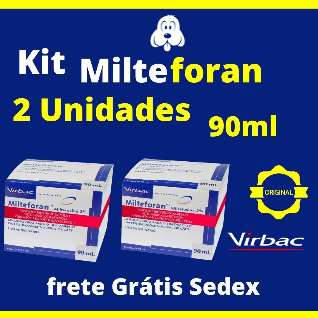 Kit Milteforan 2 Unidades 90ml ( Frete Grátis ) Sedex 2 Dias Úteis