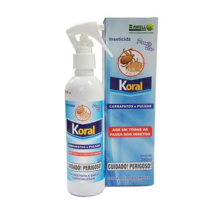 Koral Spray Carrapatos e Pulgas