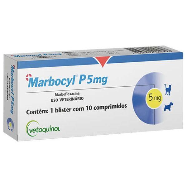 Marbocy P 5 mg para Cães e Gatos de 2 a 9 Kg - Vetoquinol