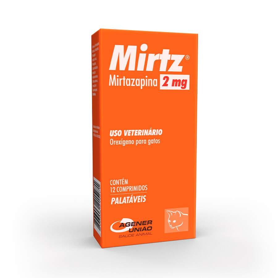 Mirtz Agener União 2 mg com 12 Comprimidos para Gatos