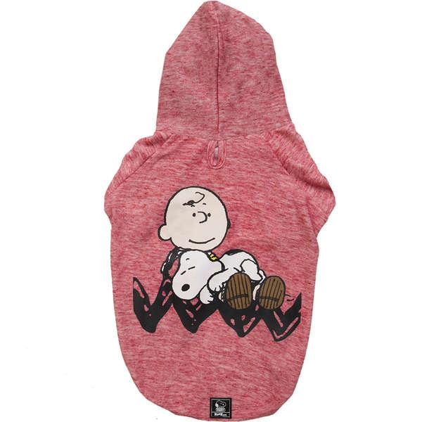 Moletom Snoopy Charlie  Sleeping Vermelha -  Zooz