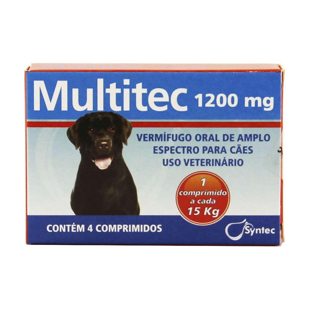 Multitec 1200mg (4 comprimidos Até 15Kg)