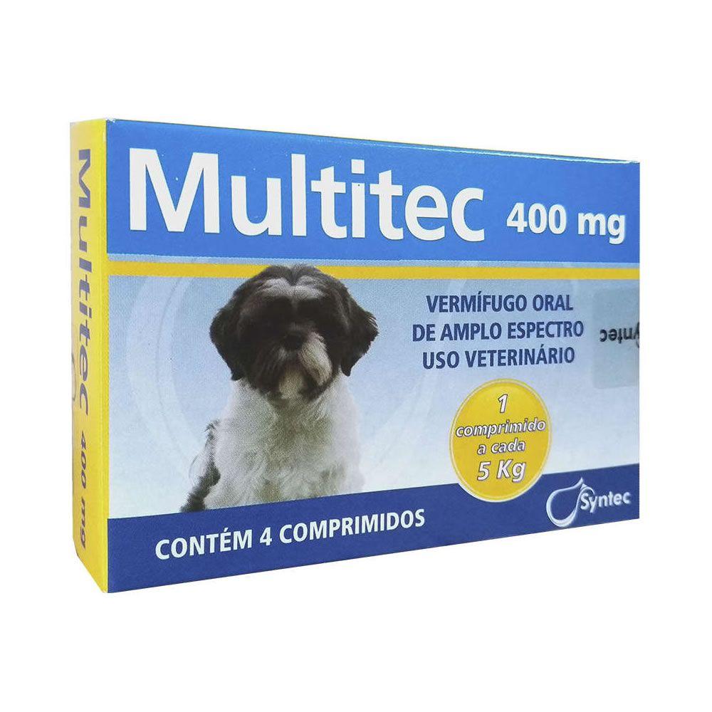 Multitec 400mg (4 comprimidos Até 5Kg)