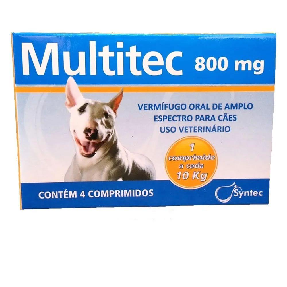 Multitec 800mg (4 comprimidos Até 10Kg)