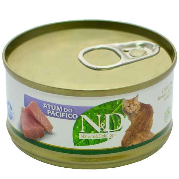 N&D Lata de Atum do Pacífico para Gatos - 70g