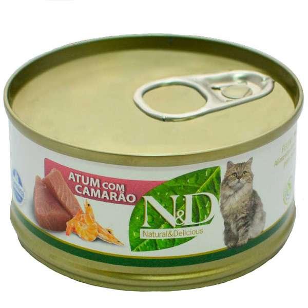 N&D Lata de Atum e Camarão - 70g