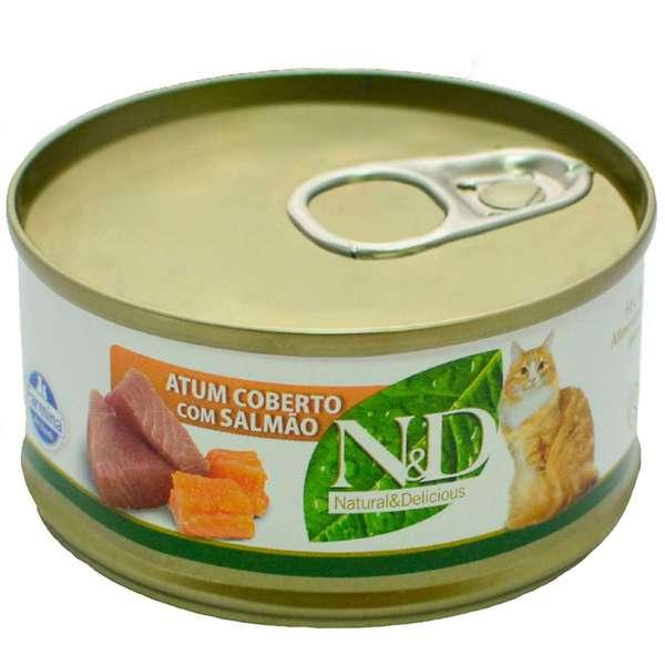 N&D Lata de Atum e Salmão - 70g