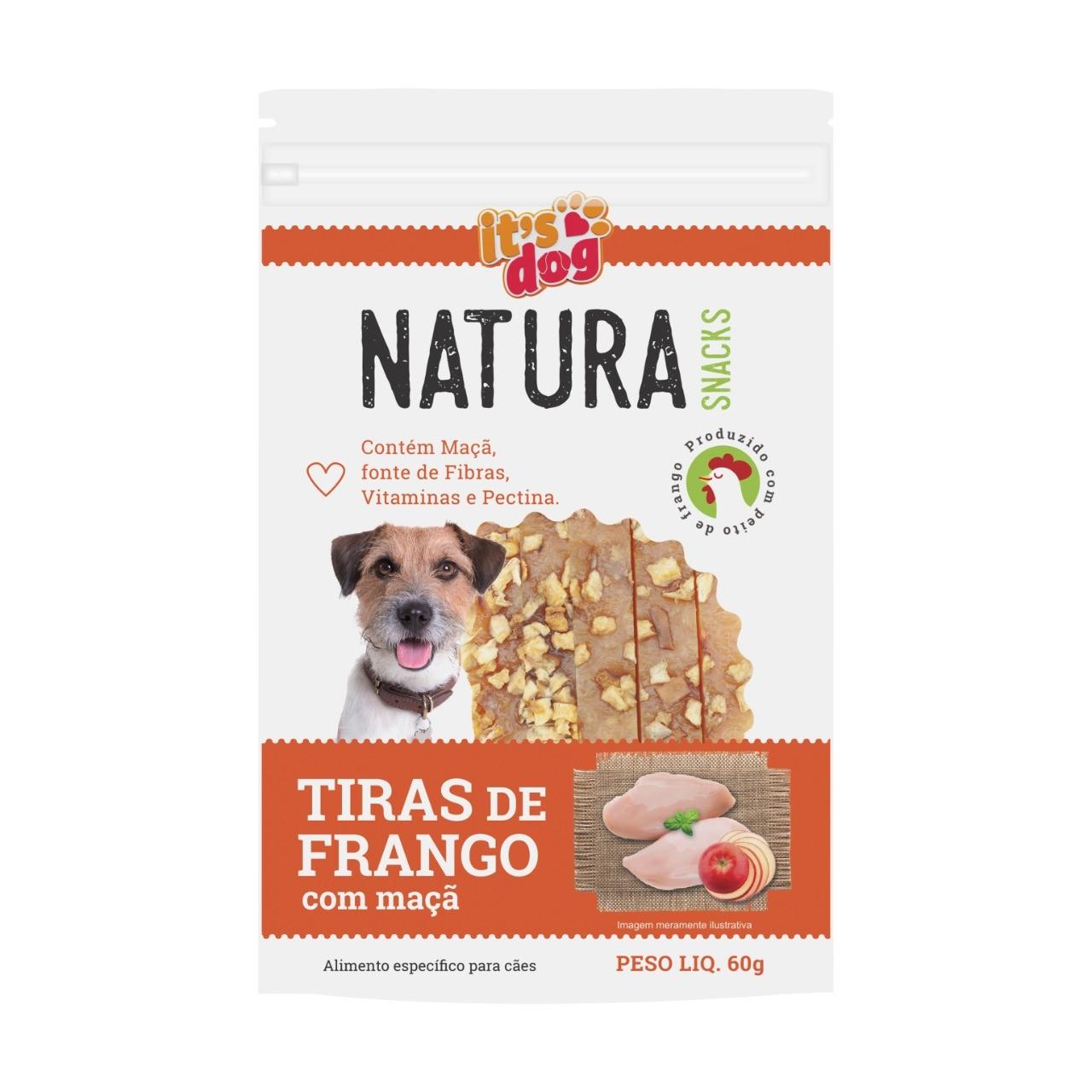Snack Natura Tiras de Frango Desitratada 100% Natural - 60g