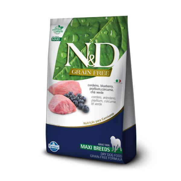 N&D Prime Cães Raças Grandes Adultos  Cordeiro e Blueberry 10kg