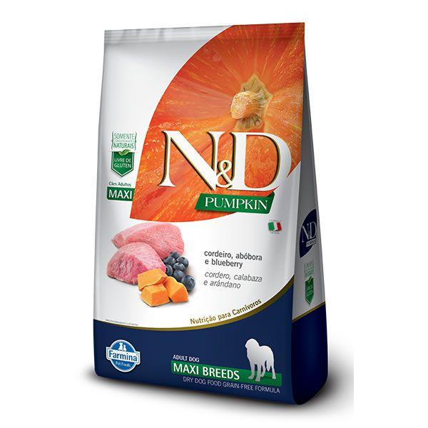 N&D Pumpkin Cães Raças Grandes Adultos Abóbora com Cordeiro e Blueberry