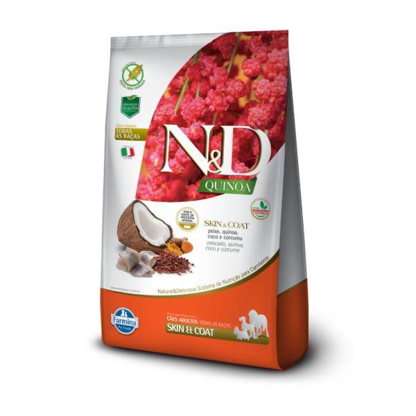N&D Quinoa Cães Adultos Skin Peixe