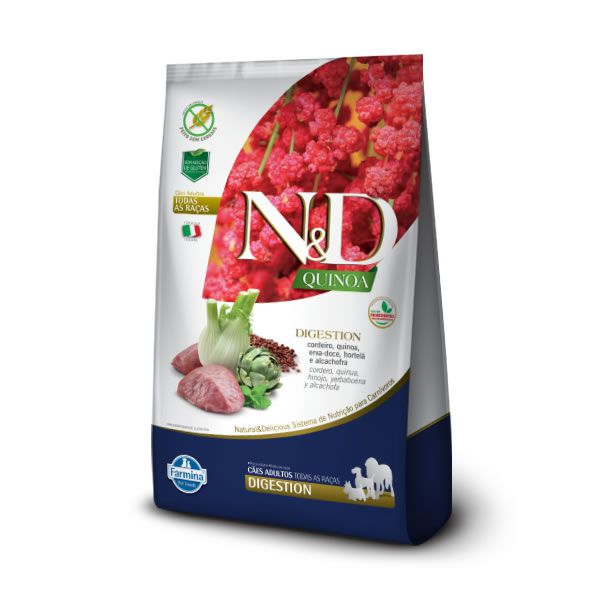 N&D Quinoa Cães Adultos Digestion Cordeiro