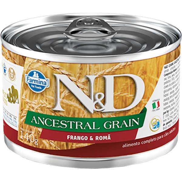 N&D Ração Úmida Ancestral Grain Frango & Romã Cães 140g - Farmina