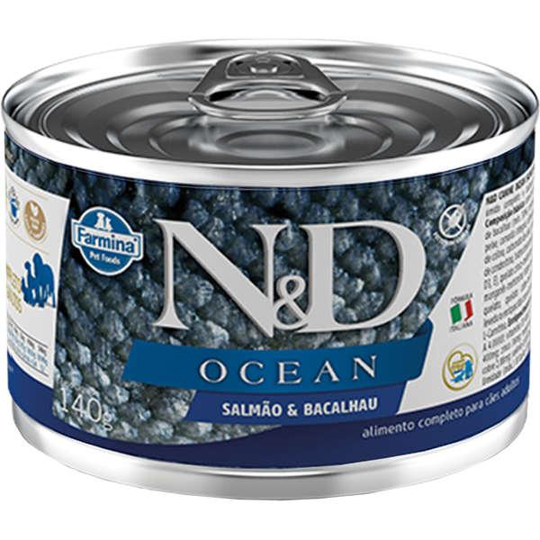 N&D Ração Úmida Ocean Bacalhau & Abóbora Cães 140g - Farmina