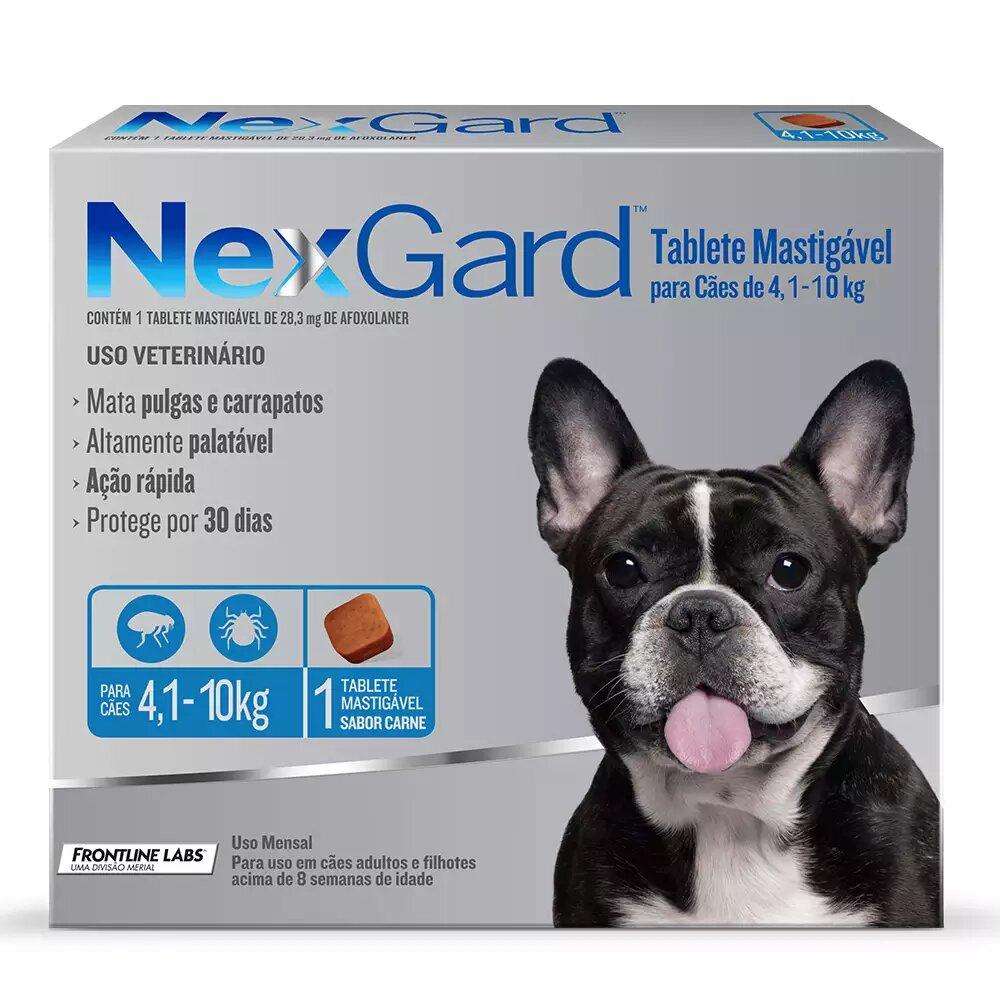 NexGard Antipulgas e Carrapatos Cães 4,1kg a 10kg
