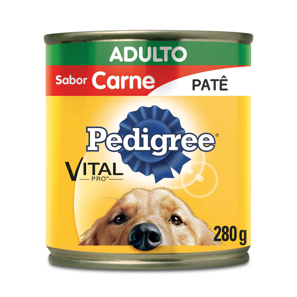 Pedigree Lata Adulto Patê Carne