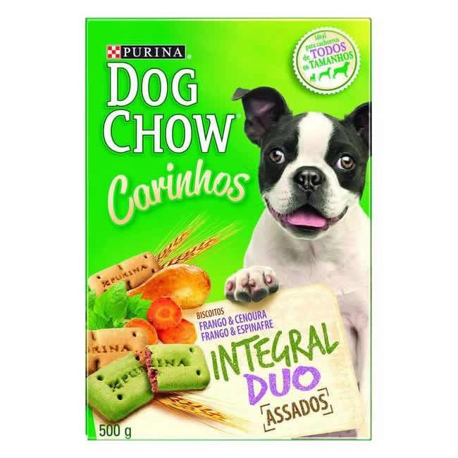 Dog Chow Carinhos Biscoito Raças Pequenas Integral Duo