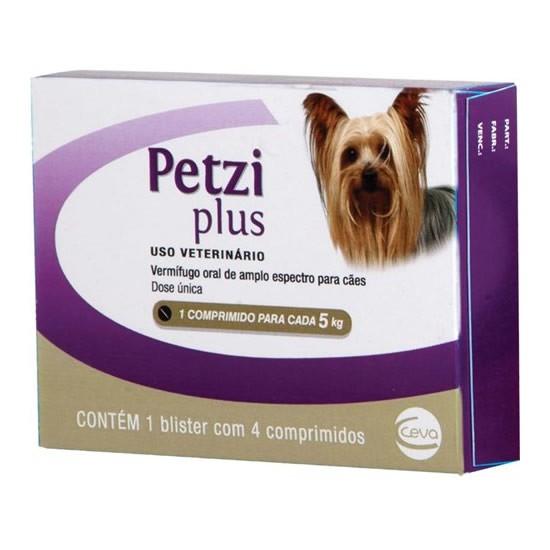Petzi Plus Cães 350mg (4 comprimidos)