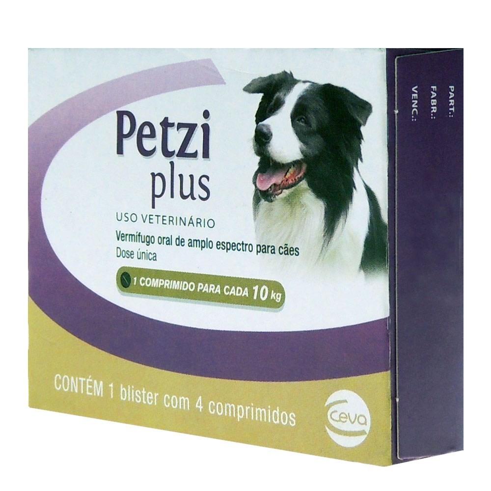 Petzi Plus Cães 10Kg (4 comprimidos)