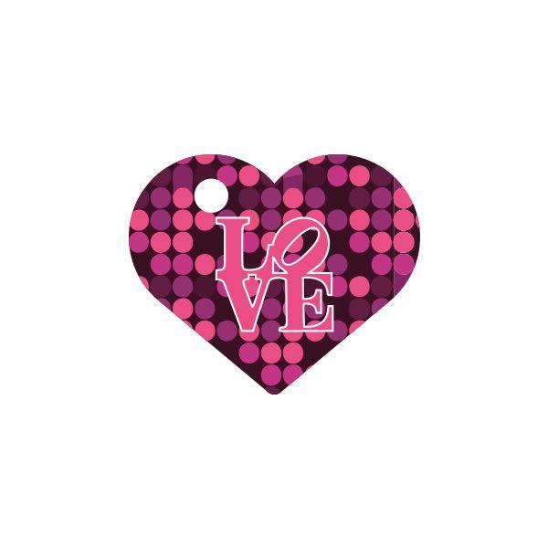Placa de Identificação com Gravação Coração Love P12401