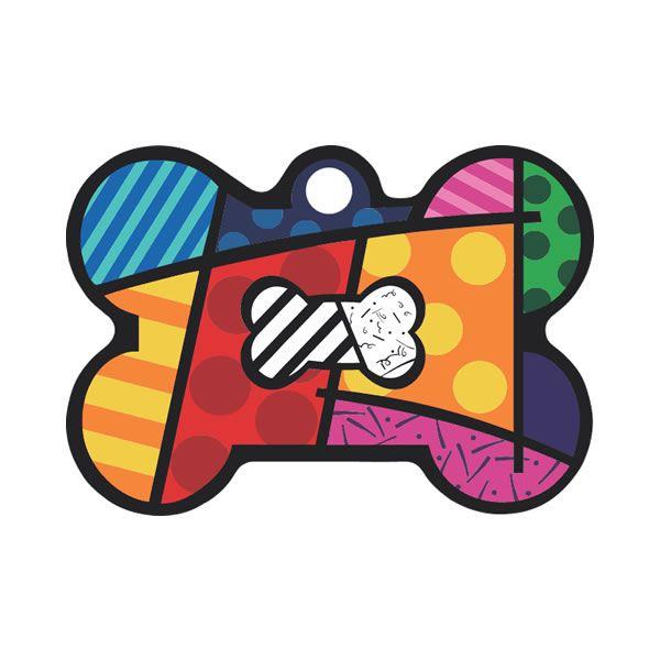 Placa de Identificação com Gravação Osso Colorido P00001