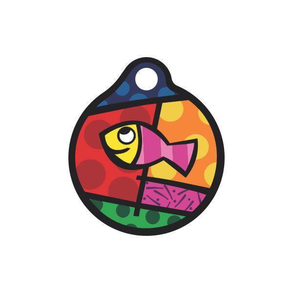 Placa de Identificação com Gravação Peixe Colorido P00003