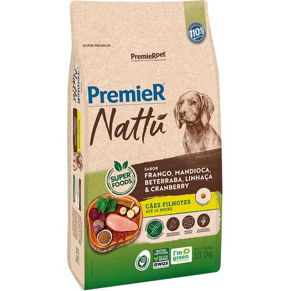 Premier Nattú Mandioca Cães Filhotes - 12 Kg