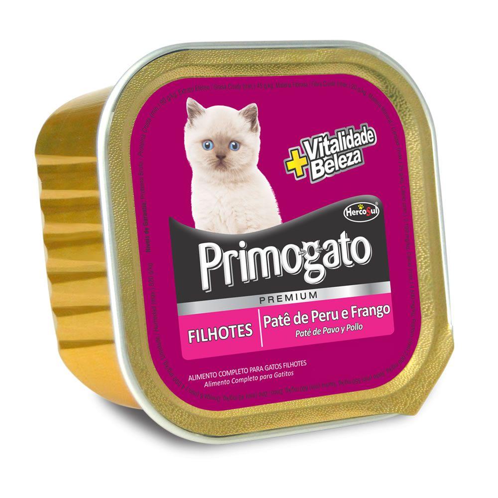 Primogato Patê Filhotes Peru e Frango