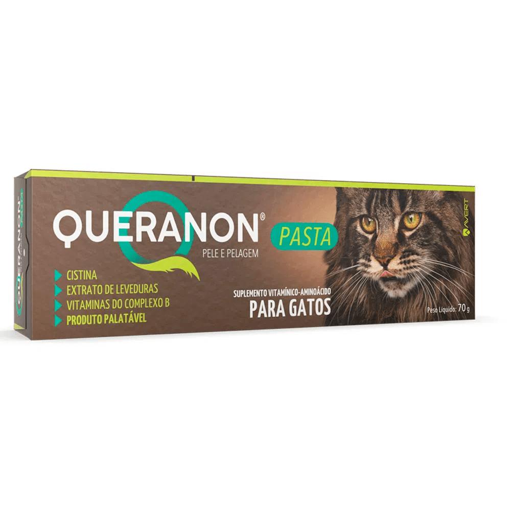 Queranon Pasta Avert Suplemento Alimentar Gatos 70g