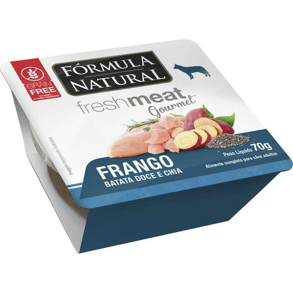 Ração Úmida Fórmula Natural Fresh Meat Gourmet Frango, Batata Doce e Chia Cães Adultos 70g