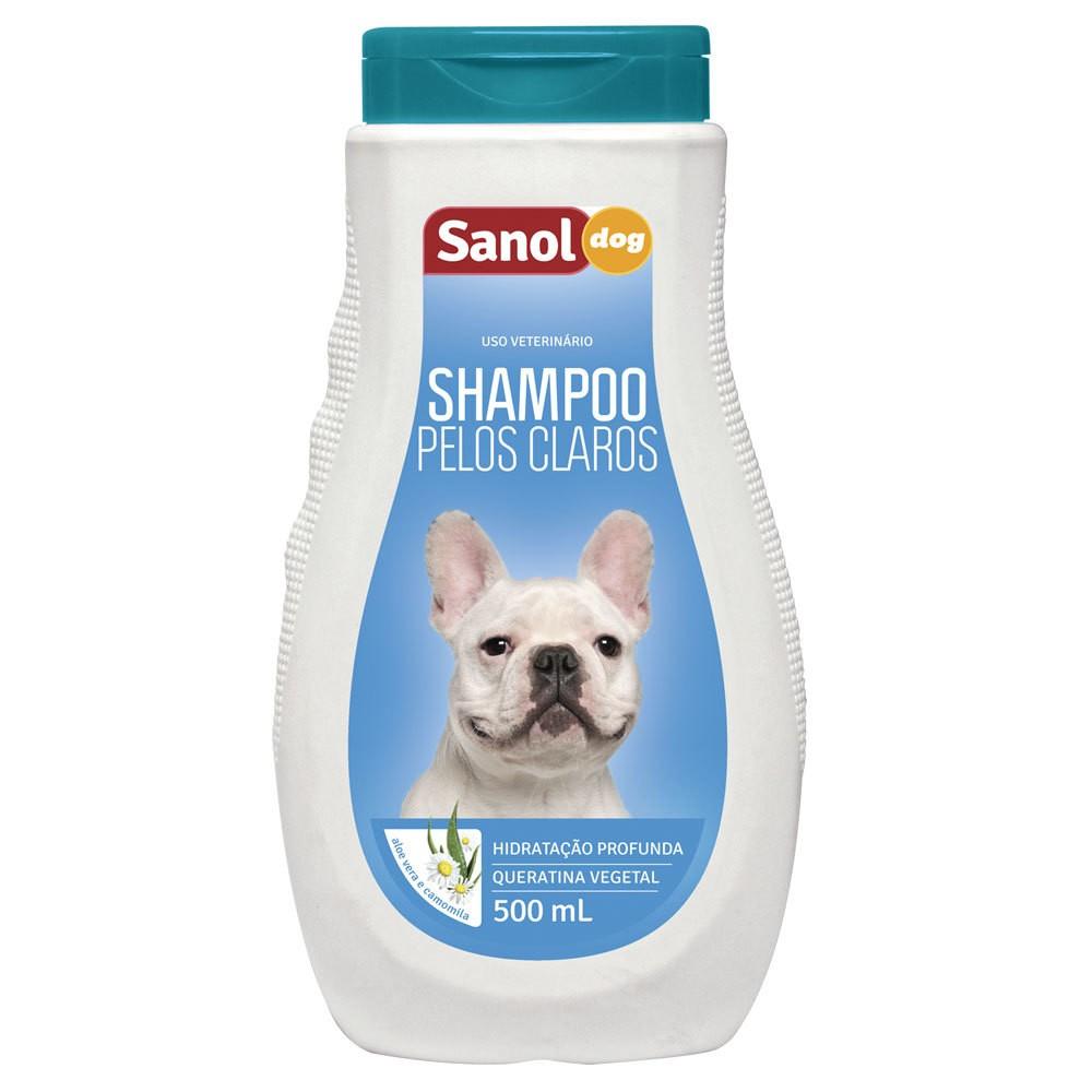 Shampoo Sanol Dog Pêlos Claros - 500ml